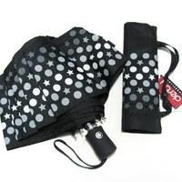 Folding Male Umbrella Three fold  fully-automatic    charm black general   Umbrellas Free Shipping