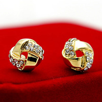 800,510 Crystal earrings small spiral fashion bridal fashion jewelry wholesale manufacturers of high-end