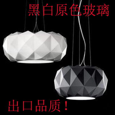 Classic black diamond pendant light black and white glass pendant light primary colors quality lighting(China (Mainland))