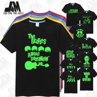 John Lennon T-shirt Men T Shirt the beatles band top Rock&Roll Tshirt Liverpool in UK  Free Shipping