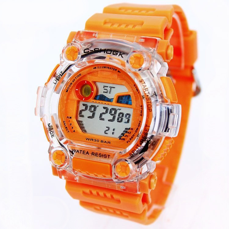 Watch Chronograph Multifunctional Electronic Watches 3ATM Waterproof Sports Fashion Transparent Women's Clock(China (Mainland))