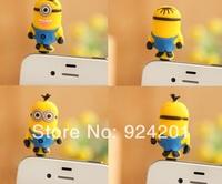 80pcs/lot,Hot Sale 3D New Despicable Me Cartoon Dust Plug Ear Jack,3.5mm Mobile Phones Dust Cap Stopper Accessory