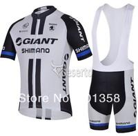 2014 giant team short Sleeve Cycling clothing+Bib Shorts racing bike wear Size XS-4XL 3d coolmax padded accept customized model