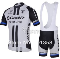 2014 giant team short Sleeve Cycling clothing+Bib Shorts racing bike wear Size XS-4XL 3d coolmax padded accept customized model
