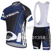 2014 ORBEA team short Sleeve Cycling jersey bib shorts racing clothing bike wear Size XS-4XL 3d coolmax padded accept customized