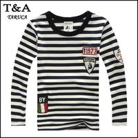 High-Quality Children's clothing long sleeve T-shirt child boy stripe t shirts all-match tees boys clothes