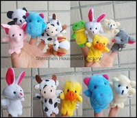 Wholesale 4000pcs/lot Animal Finger puppets Cloth wool toy gift Baby stories helper Finger doll (10 animal group)