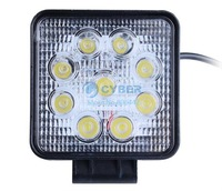 New arrival 27W 10-30V Flood Beam LED Work Light Lamp 6500K WaterProof IP67 Roads Square Work Light For Truck/ Boat SV000556