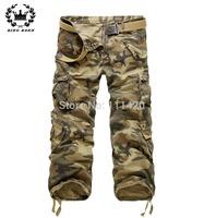 7 Colors Classic Military Camouflage Cargo Pants Men Multi Pockets Durable Loose Pants Big Size 4XL5Xl Khaki Army Pantalon