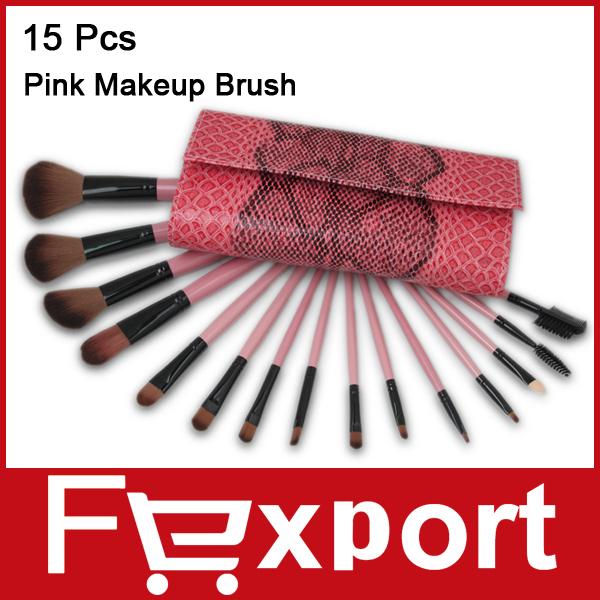 Professional 15 Pcs 15Pcs Make Up Brushes Makeups Facial Cosmetics Kit Beauty Bags Set Makeup(China (Mainland))