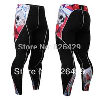 Mens Compression sports Thermal Long Pants tight Leggings Base Under Layer Black skin tights pants running fitness pants LP02