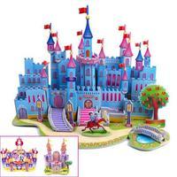 T0394 3D Jigsaw Puzzles Castle Princess Room DIY Building Paper Model Kids Creative gift Children  Educational Toys hot sale
