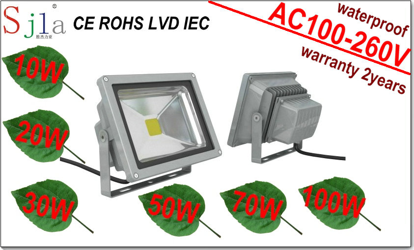 10W 20W 30W 50W 70W 100W 150W 200W LED Flood Light Outdoor Lighting Floodlight RGB Remote Control(China (Mainland))