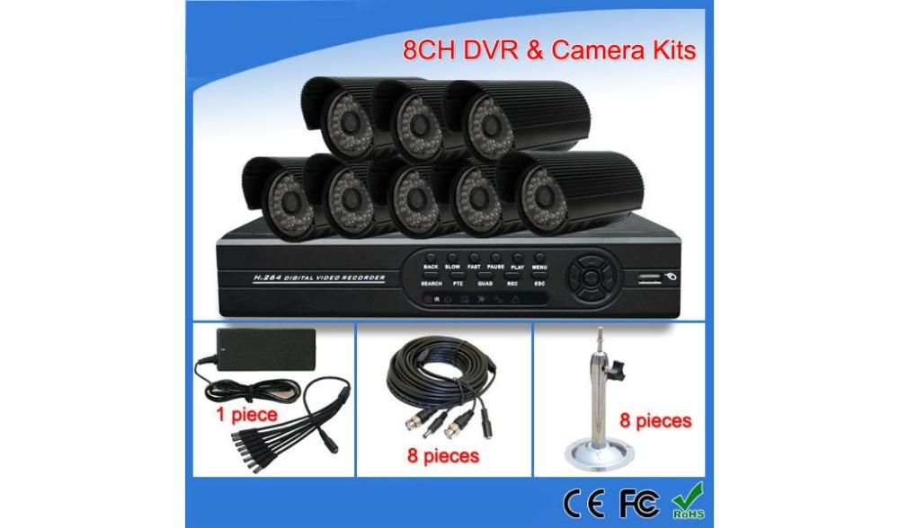 Free shipping 8CH DVR Kits with Bullet camera(China (Mainland))