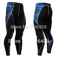 Mens Compression sports Thermal Long Pants tight Leggings Base Under Layer Black skin tights pants running fitness pants LP01