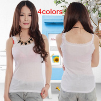 New Ladies sleeveless tank top lace sling vest 4colors