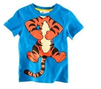 HOT Selling High Quality Boys T Shirt Kids Children Tops Summer Wear Short Sleeve Clothing Tiger T SHIRT 3pcs/lot