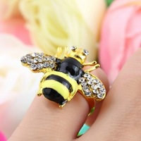 Fashion Hot Sale New Arrival Beautiful Shiny Small Bees Ring