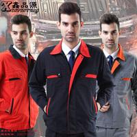 10sets-  set male long-sleeve workwear protective clothing work wear  factory work suits full sets porter uniform print logo