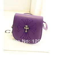 Free shipping 2014 cross mini bags women candy color one shoulder cross-body women's Latin Cross handbag