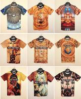 Free Shipping Fashion Animal Print 3D T shirt 3D Funny Pray For Paris Print Tshirt Man