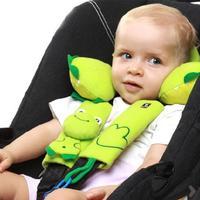 T0860 Fashionable & Safe baby boys girls child seat belt pad with Nipple rope wholesale 1PCS