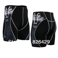 Top Mens Compression sports shorts tight Leggings Base Under Layer Black skin tights shorts running fitness short pants LS01