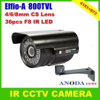 Hot CCTV Camera Sony Effio-A 800TVL OSD Menu ATR /Defog /Sense-up /3DNR / Ezoom CS Lens 6mm Day/Night Security IR Video Camera