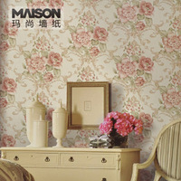 P Non-woven Wallpaper Fashion Flower Rustic wallpaper 470yg Free shippng