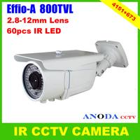 Outdoor Weatherproof Surveillance Camera Sony Effio-A 800TVL ATR/ 3DNR/ Motion Detection / DIS/ Defog CCTV Camera