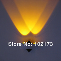 led wall lamp Modern Design new product/2W high power LED wall light,tri-angle