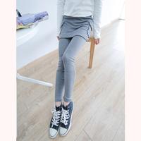 2014 spring women's fashion all-match letter applique faux two piece slim hip ak523 legging