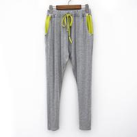 2014 spring women's fashionable casual all-match drawstring basic harem pants trousers ak698