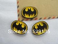 Free Shipping! Min. order is $10 (mix order), Resin Batman Logo, Resin Flat back Cabochon for Hair Bow Center DIY (25*33mm)