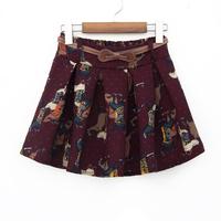 2014 spring and summer women's vintage all-match print a short skirt bust skirt aq082