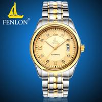 For EverU  mechanical watch mens watch waterproof luminous male steel watch large dial watch