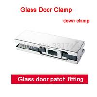 Free shipping Glass door clamp down clamp HC-3110G glass door hardware accessories door clip patch fitting