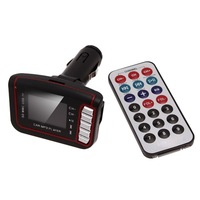 "New Red 1.7"" LCD Car MP3 Player USB FM Transmitter SD MMC With Remote Control Hot 84190"