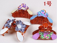 Free shipping(12 pieces/lot) Multi-color hair claw clip for women girls hair grip 8.5cm