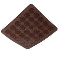 Free Shipping Silicone 30 Lattice Macaron Macaroon Dessert Baking Pastry Cookie Sheet DIY Mold Mould 4003-108