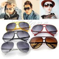 Unisex Women Men's PC Frame UV 400 Glass Wayfarer Shades Eyeglasses Sunglasses