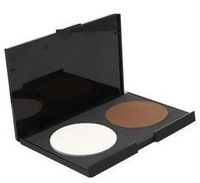 New 2 Colors Makeup Contour Shading Cosmetic Concealer Highlight Powder Palette