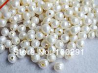 Free ship!!! 9-10mm big hole loose White freshwater pearl potato pearl beads 100pcs/lot MN-397