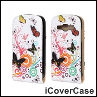 Flip Butterfly Printed Leather Case for Samsung Galaxy Ace 3 S7270 S7275