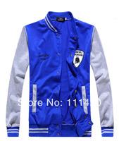 2014 Fashion Popular Men Varsity Jackets Badge Embroidery Baseball College Coats Student Sports Coat Blue Black Red Gray