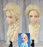 Hot Sell Frozen  hair set Frozen Anna and Frozen Elsa Good Girl Gifts  Queen aisha elsa gold thick hair accessory cosplay wig