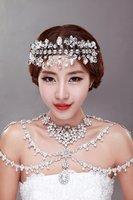 Free shipping!!!  Delicate Fashion rhinestone Bridal chain accessory marriage wedding accessory shoulder chain strap
