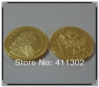 5pcs/lot  1729 Peter II 1Ducat russian gold  Souvenir coin