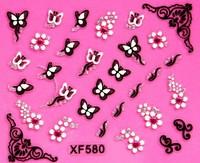 Наклейки для ногтей 30 Pieces/Lot XF439 Mustache Shape Fashion 3D DIY Nail Sticker