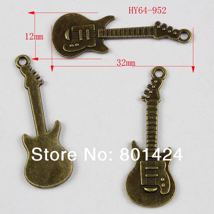 free shipping 36pcs 64-952 antique bronze musical instrument jewelry charm diy decoration fashion metal beads  jewelry charm(China (Mainland))
